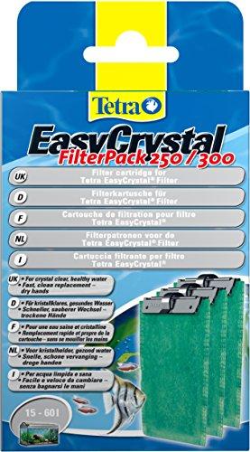 Tetra EasyCrystal Filter Pack 250/300 Filterpads (Filtermaterial f�r EasyCrystal Innenfilter, geeignet f�r Aquarien von 30 Liter), 3 St�ck