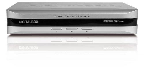 Digitalbox Imperial DB 2 basic digitaler Sat-Receiver (Scart, Audio-Video Cinch) silber