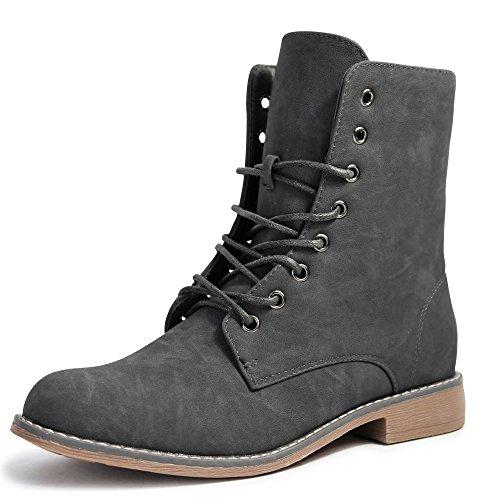 Damen Stiefeletten Stiefel Boots Schn�rstiefel 1178 (39, 5208 grau)
