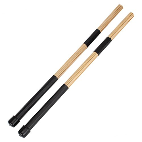 WINOMO Jazz-Drumsticks 1 Paar Bambus-Stab Drum B�rsten Sticks f�r Jazz Folk-Musik