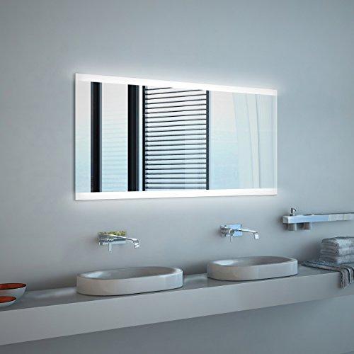 Noemi - NEON Badspiegel mit Beleuchtung - (B) 100 cm x (H) 70 cm