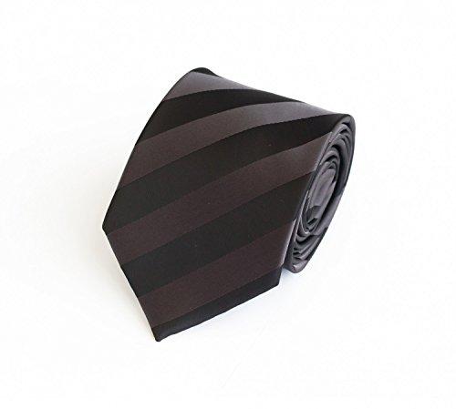 Moderne Krawatte in schwarz grau gestreift Fabio Farini