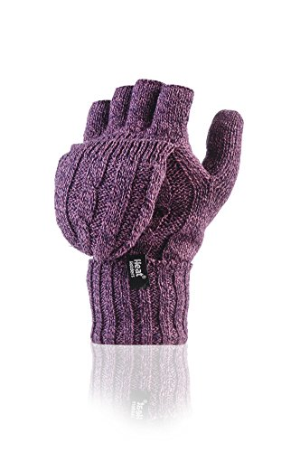 Heat Holders - Damen Thermo fingerlose Handschuhe, Fausthandschuhe-Einheitsgr��e, 2.3 tog (Lila)