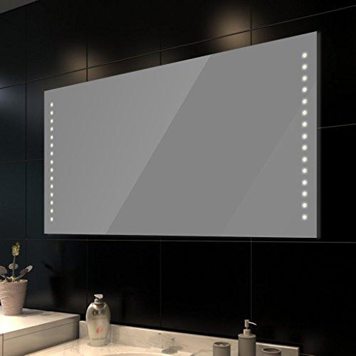 vidaXL Badspiegel Lichtspiegel LED Spiegel Wandspiegel 100x60cm
