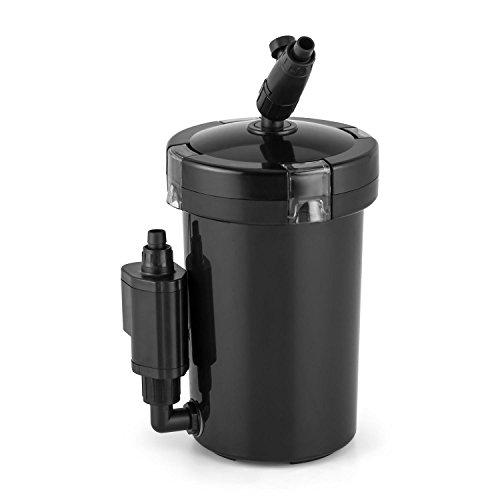 DURAMAXX Clearflow-6UVL Aquarium Filter Wasser Au�enfilter f�r Aquarien bis 120 Liter Gr��e (sparsame 6W Pumpe, moderne 4-Stufen-Filter-Technik, 400 l/h, einfache Reinigung) schwarz