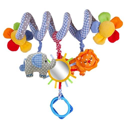 Happy Cherry Baby S�� H�ngenden Spirale mit Musik Sound, Activity Spiral Pl�schtiere Spielzeug, Beschwichtigen Schlaf Spielzeug f�r Baby S��sbett/ Kinderwagen - Elefant Blau