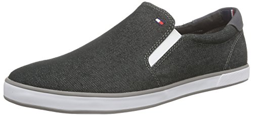 Tommy Hilfiger H2285ARLOW 2F, Herren Slipper, Grau (BLACK DENIM 070), 42 EU