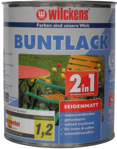 Wilckens 2in1 Buntlack seidenmatt, RAL 9010 reinwei�, 750 ml 12491000050