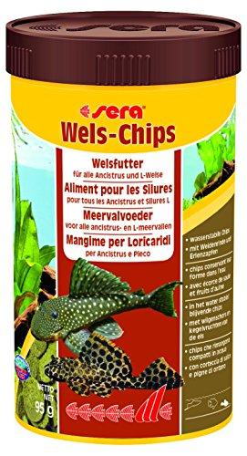 sera 00511 Wels-Chips 250 ml - Die Chips f�r raspelnde Welse (z.B. Ancistrus und L-Welse)