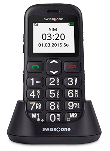 swisstone BBM 320c - GSM-Mobiltelefon mit gro�em beleuchtetem Farbdisplay, schwarz