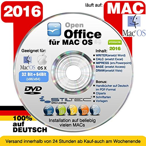 Open OFFICE MAC 2016 PREMIUM Home and Business Schreibprogramm Textverarbeitung Software [auf DVD Datentr�ger] ORIGINAL von STILTEC �