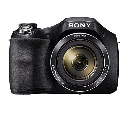 """Sony  Einstiegsbridge DSC-H300 (20.1 MP CCD Sensor (effektiv), 35x optischer Zoom, 25mm Weitwinkel-Objektiv, Optischer Bildstabilisator """"SteadyShot""""HD) schwarz"""