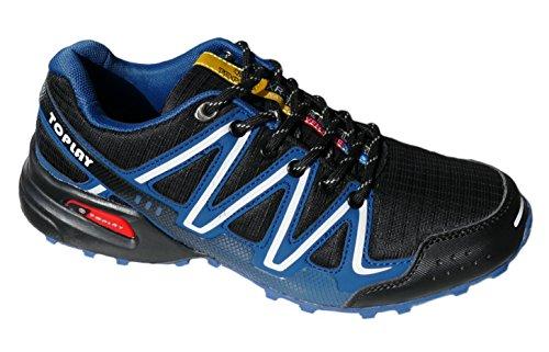 GIBRA� Herren Sportschuhe, sehr leicht und bequem, schwarz/blau, Gr. 42