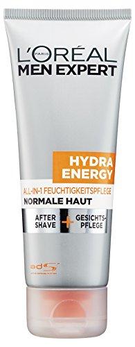 L'Or�al Men Expert Hydra Energy All-In-One Feuchtigkeitspflege - Gesichtspflege und After Shave (24h Feuchtigkeitscreme f�r M�nner), 1er Pack (1 x 75 ml)