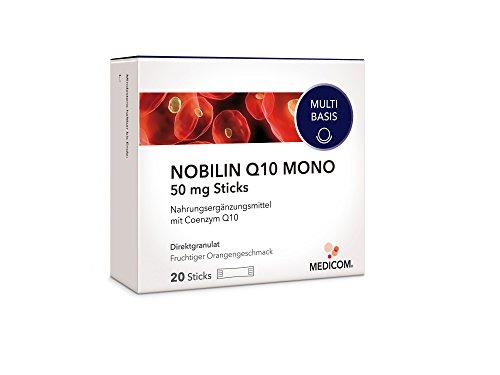 NOBILIN Q10 MONO 50 mg - 20 Coenzym Sticks mit Q 10 Pulver - Anti Aging Zellschutz - Antioxidantien Komplex gegen freie Radikale