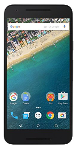 Google Nexus 5X Smartphone (5,2 Zoll (13,2 cm) Touch-Display, 32 GB interner Speicher, Android 6.0) carbon