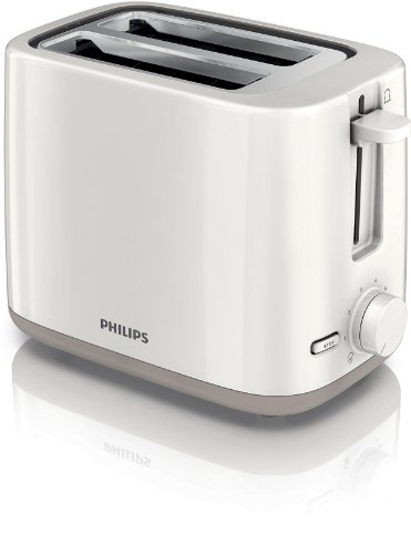 Philips HD2595/00 Toaster (2 Toastkammern, 4 Funktionen, Liftfunktion) wei�