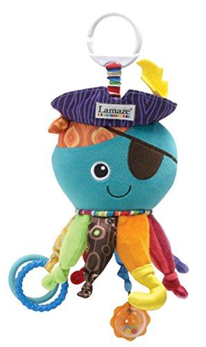 """Lamaze Baby Spielzeug """"Captain Calamari, die Piratenkrake"""" Clip & Go - hochwertiges Kleinkindspielzeug - Greifling Anh�nger zur St�rkung der Eltern-Kind-Bindung - ab 0 Monate"""