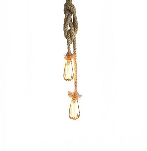 Lixada Vintage Seil H�ngelampe 100cm(50cm+50cm)Pendelleuchte AC220V E27 (ohne Birne)