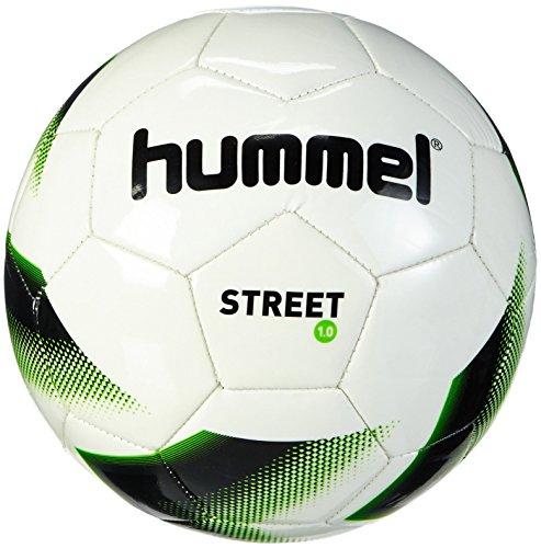 Hummel Kinder Fussball 1.0 STREET, White/Black/Gecko Green, 4, 91-736-9322