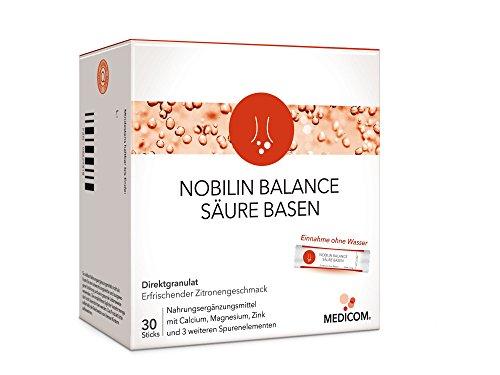 NOBILIN BALANCE S�URE BASEN - 30 Sticks - Basen Komplex Kur bei �bers�uerung, Basenpulver mit Magnesium, Calcium, Zink & Selen