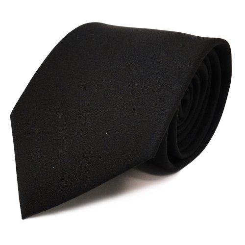 sch�ne feine TigerTie Designer Krawatte in schwarz Uni - Schlips Binder Tie
