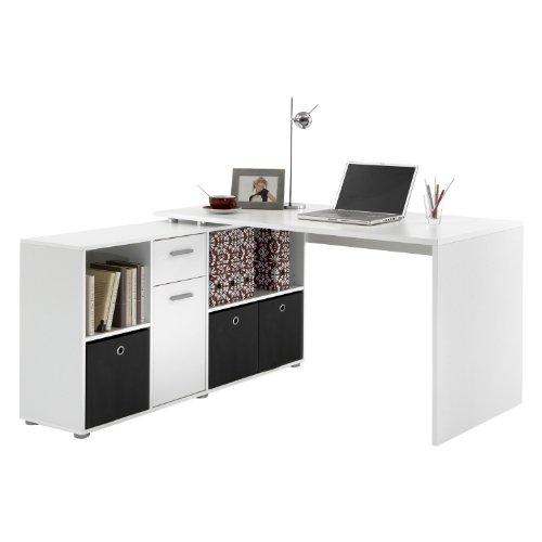 FMD M�bel 353-001 Winkelkombination LEX Tisch circa 136 x 75 x 68 cm, montiert Regal circa 137 x 71 x 33 cm, wei�