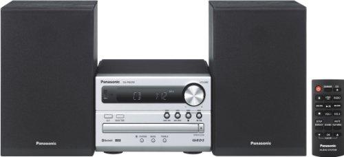 Panasonic Micro HiFi System SC-PM250EG-S (20 Watt RMS, CD, Radio UKW, Bluetooth) silber