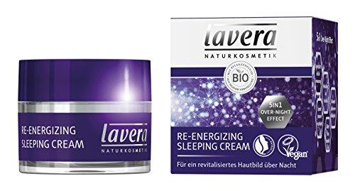 lavera Re-Energizing Sleeping Cream ? Revitalisierende Nachtcreme ? 5in1 Overnight Effect Nachtpflege ? Strahlende Haut am Morgen ? vegan ? Bio Pflanzenwirkstoffe ? Naturkosmetik ? Natural & innovative ? Gesichtspflege 1er Pack (1 x 50 ml)