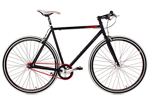 KS Cycling Fahrrad Fitness-Bike Single Speed Essence RH 59 cm, Schwarz, 28, 398B