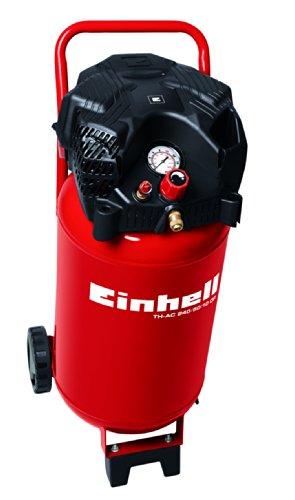 Einhell Kompressor TH-AC 240/50/10 OF (1,5 kW, 50 L, Ansaugleistung 240 l  /min, 10 bar, �lfrei, stehende platzsparende Bauweise)