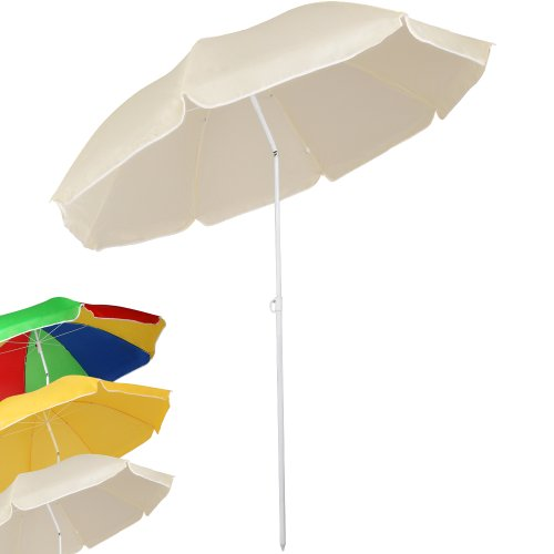 Miadomodo Wasserabweisender Sonnenschirm Strandschirm Sonnenschutz Schirm mit Knickgelenk h�henverstellbar mit Gr��en- und Farbwahl