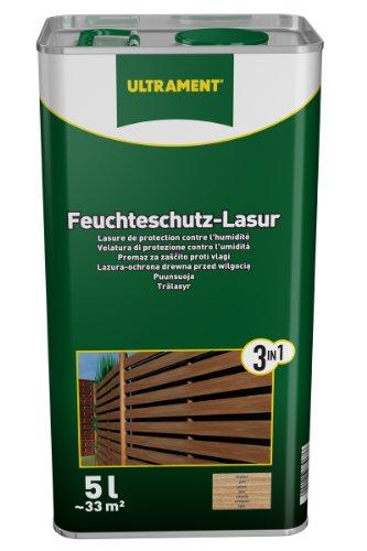 Ultrament 68248980195208 Feuchteschutz-Lasur 3-in-1 teak 5 Liter