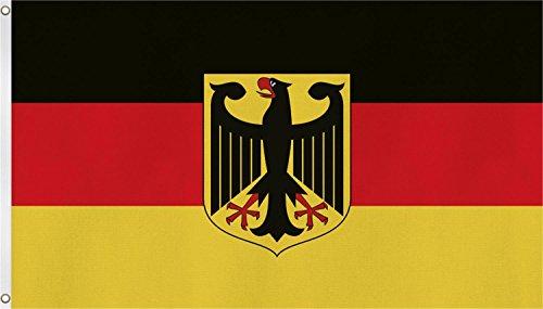 Fahne mit Messing�sen 90 x 150, 150 x 250 oder 300 x 500 cm w�hlbar Farbe Deutschland mit Adler Gr��e 90 x 150