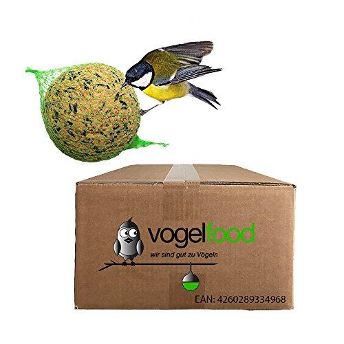 """200 x 90 g = 18 kg Meisenkn�del Marke """"Vogelfood"""" Vogelfutter Wildvogelfutter Ganzjahresfutter Fettfutter mit Netz"""