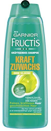Garnier Fructis Shampoo Kraftzuwachs Sensitiv / Kr�ftigendes Haarshampoo mit aktiv Fruchtkonzentrat ohne Parabene, ohne Silikone (f�r feines, kraftloses Haar) 3er Pack - 250 ml