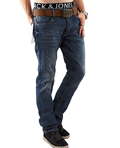 JACK & JONES Herren Jeans Hose jjiCLARK 432 Used Look Denim Regular Fit (31W / 32L, Blau (Blue Denim Fit:REG))