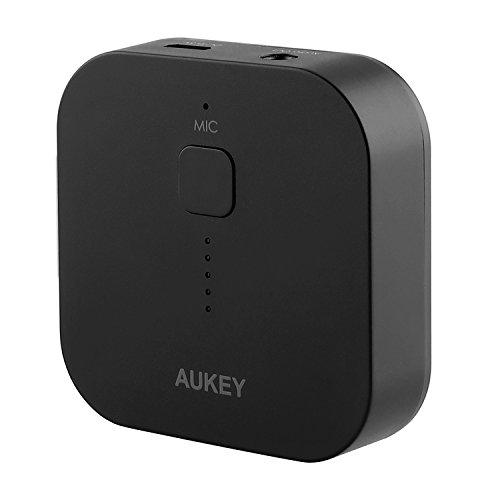 AUKEY Bluetooth Empf�nger Tragbare Drahtlos Bluetooth 3.0 Receiver Wireless Adapter Audioger�te f�r Heim HiFi Auto Lautsprechersystem und Handy mit Stereo 3.5 mm Aux