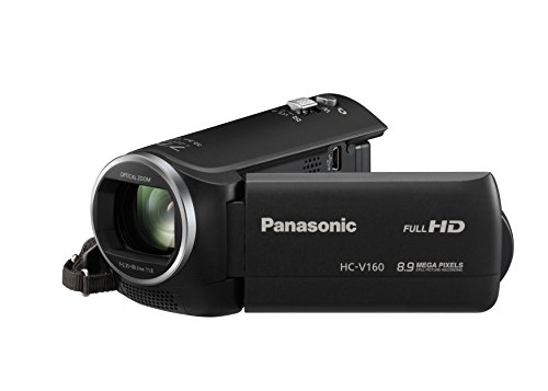 Panasonic HC-V160EG-K Full HD Camcorder ( 38x opt. Zoom, 2,2 MP, WiFi, 6,7 cm gro�es LC-Display, elektr. Bildstabilisator) schwarz