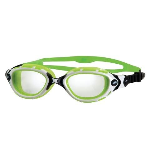 Zoggs Schwimmbrille Predator Flex Reactor, White/Lemon Green, 300846