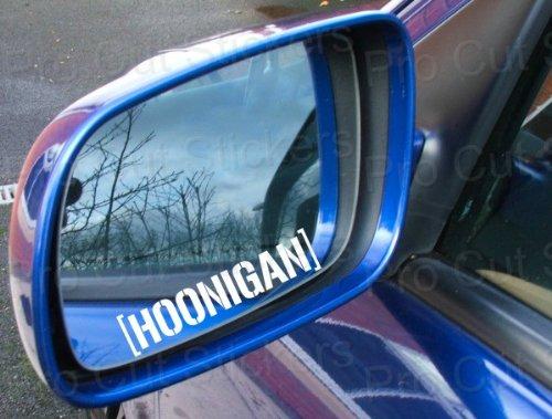 2x HOONIGAN SEITENSPIEGEL Sticker Ken Block AUFKLEBER ca.7,5cm Energy Ungeheuer Kralle Claw Auto Tuning Styling Motorrad