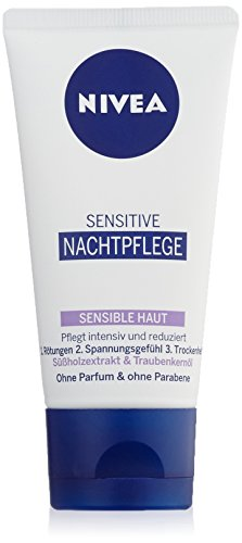 Nivea Sensitive Nachtpflege, f�r sensible Haut, 1er Pack (1 x 50 ml)