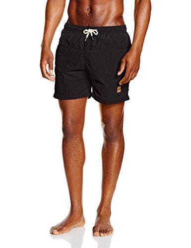Urban Classics Herren Badehose Block Swim Shorts, Schwarz (Blk/Blk 17), XX-Large