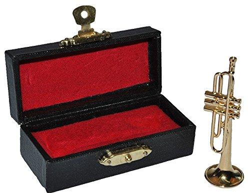 Miniatur Trompete - Metall Ma�stab 1:12 - Puppenhaus Blechblasinstrument golden - Musikinstrument Musik Instrument Orchester Kammermusik