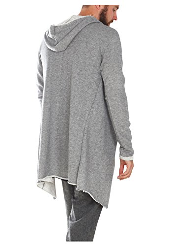 Sublevel Sweat-Cardigan f�r Herren mit Kapuze aus Baumwolle middle grey M