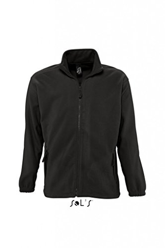 Sols Fleecejacke Fleece Jacke North bis Gr. 5XL ,Black, 4XL