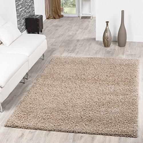 Shaggy Teppich Hochflor Langflor Teppiche Wohnzimmer Preishammer versch. Farben, Farbe:beige;Gr��e:120x170 cm