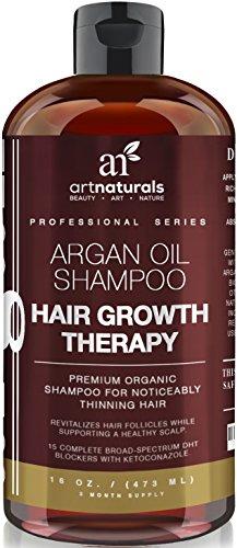 Art Naturals Organisches Argan�l Shampoo Haarwachstums-Therapie 473 ml, Sulfat-frei - Beste Behandlung bei Haarausfall - F�r d�nner werdendes & alterndes Haar - Ideal f�r M�nner & Frauen - Angereichert mit Biotin - 3 Monatsvorrat