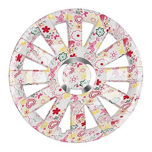 (Gr��e w�hlbar!) 16 Zoll Radkappen ONYX (Flowers) passend f�r fast alle Fahrzeugtypen (universell) - vom Radkappen K�nig