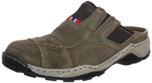 Rieker 08097 Mules & Clogs-Men, Herren Clogs, Braun (mud/kastanie/26), 43 EU
